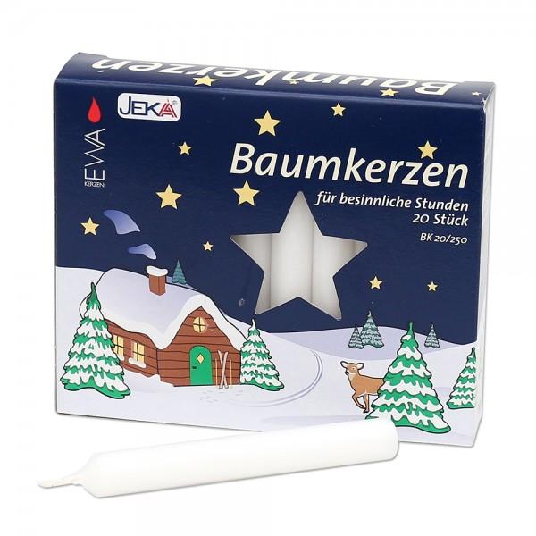20er Set Baumkerzen, weiß 1,3 x 1,3 x 10,5 cm