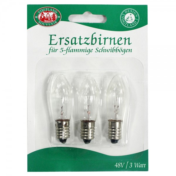 3er Set 3er Spitzkerzen-Blister 48 V / 3 Watt (für 5-flammige SB) 8 x 1 x 11 cm 5 flammig, SPK