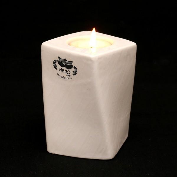 Keramik Kerzenhalter Samba, Weiß 7 x 7 x 10,5 cm