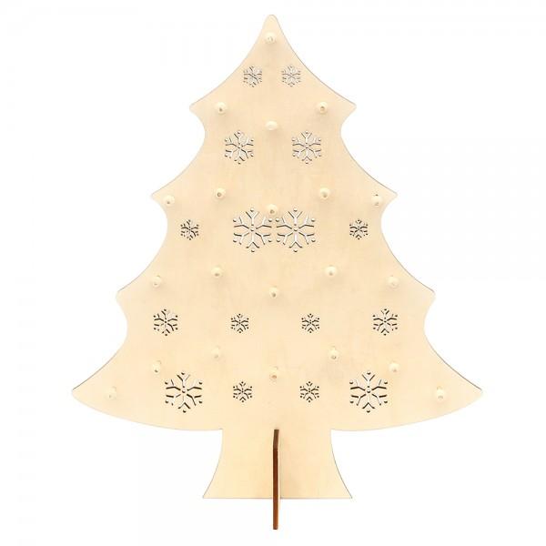 Holz Display für Baumbehang Tanne 36,5 x 14 x 43,5 cm