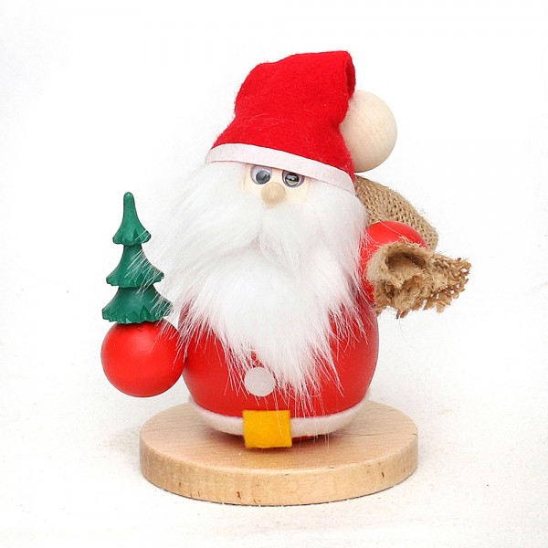 Holz Räucherfigur Weihnachtsmann, rot 9 x 9 x 14 cm