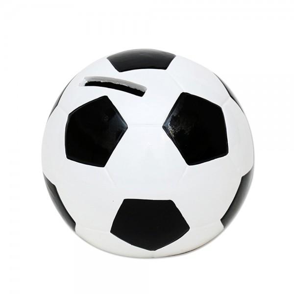 Keramik Spar-Fußball, schwarz/weiß 10 x 10 x 10 cm