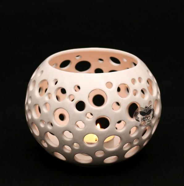 Keramik Leuchter Orion, Weiß 15 x 13 x 10,5 cm