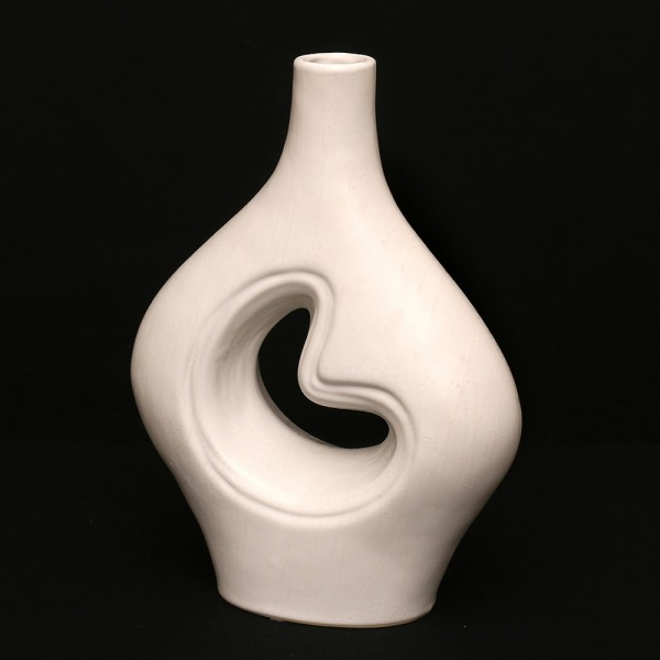 Keramik Vase Sina dick, Weiß 23 x 9 x 31 cm