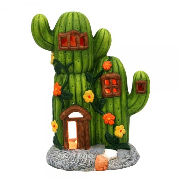 Keramik Lichthaus Kaktus 18 x 11,5 x 23,8 cm