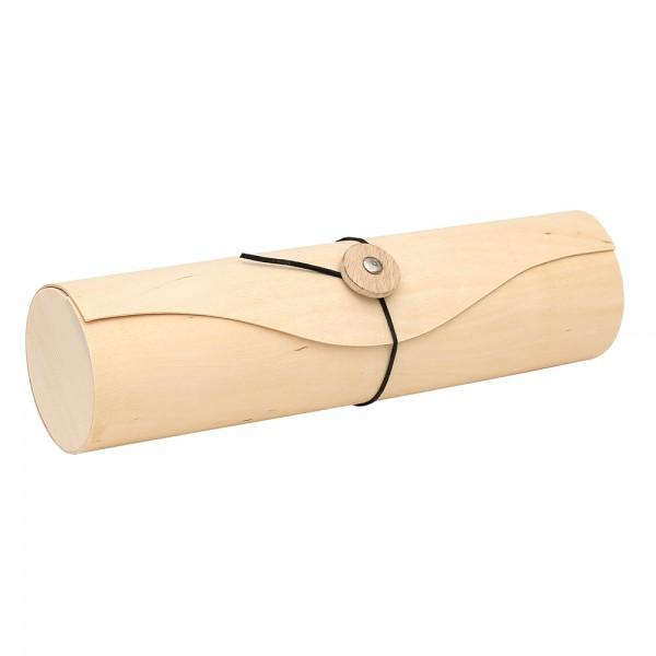 Holz Spanrolle für Weingeschenk, natur 9 x 9 x 34 cm Ø 9 cm