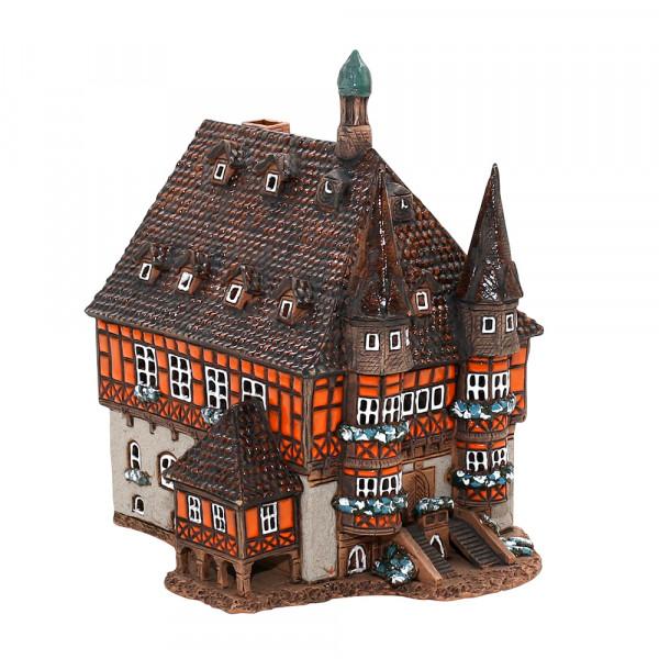 Keramik Licht-Duftölhaus (in Schornstein) Rathaus Wernigerode groß 17 x 20 x 22,5 cm