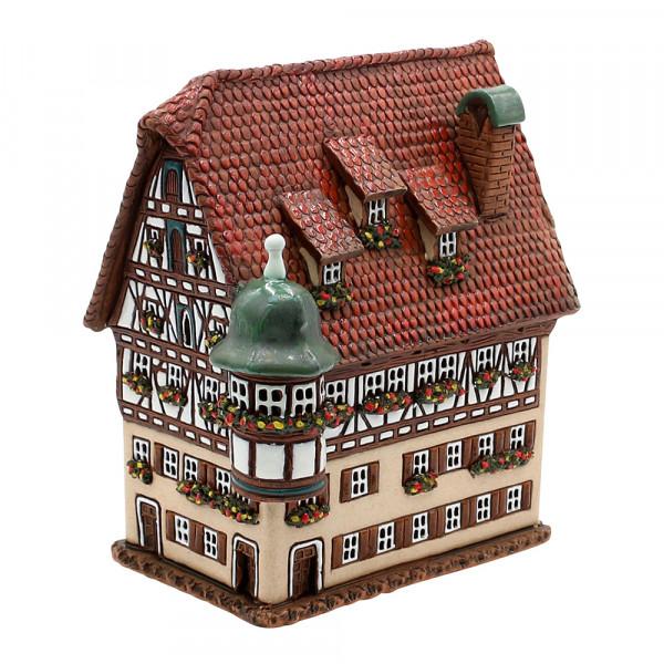 Keramik Licht-Duftölhaus (in Schornstein) Marien Apotheke in Rothenburg 16 x 12 x 17 cm