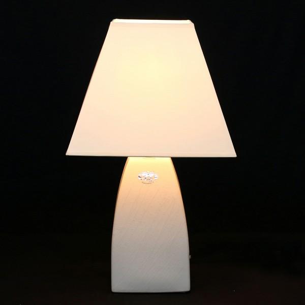 Keramik Tischlampe Tulip (Leuchtmittel nicht enthalten), Weiß 25 x 25 x 43 cm 230 V Kabel, E27