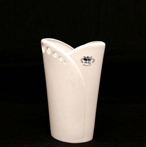 Keramik Vase Riva mit Löchern, Weiß 15 x 7 x 22,5 cm