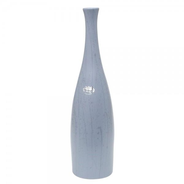 Keramik Vase Flasche, Grau 11 x 11 x 43 cm