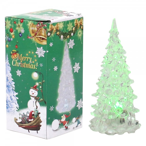 Acryl LED-Baum mit Anhänger 6 x 6 x 12,5 cm LED, Farbwechsel