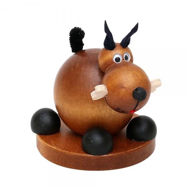 Holz Räucherfigur Hund, braun 9 x 9 x 10 cm