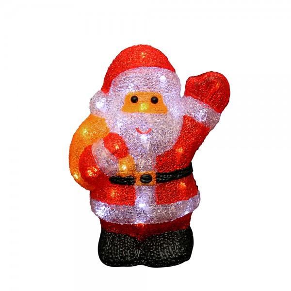 Acryl LED Santa 21 x 12 x 28 cm Netzanschluss 5 V, LED