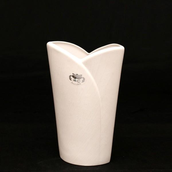 Keramik Vase Riva, Weiß 15 x 7 x 24 cm