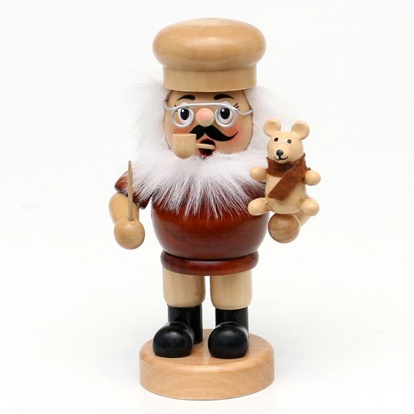 Holz Räuchermann Teddymacher mit Teddybär natur 9,5 x 7,5 x 16,5 cm