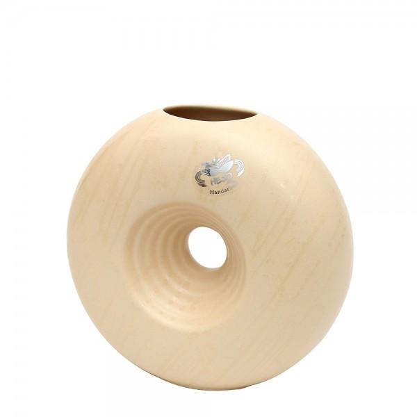 Keramik Vase Saturn, Champagner 7,5 x 18,5 x 16,5 cm