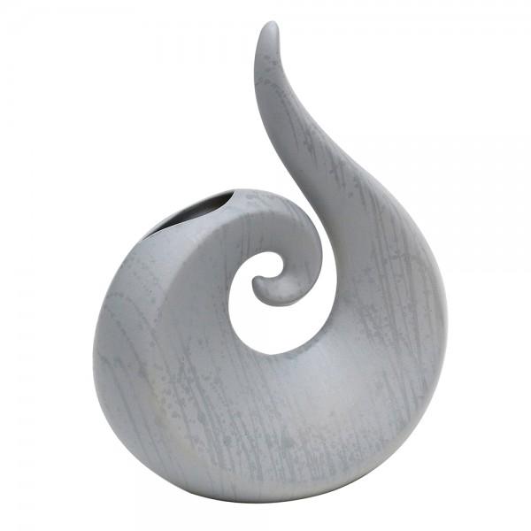 Keramik Vase Swing, Grau 26 x 11 x 31 cm