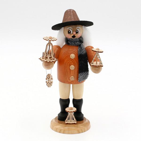 Holz Räuchermann Siegfried der Pyramidenverkäufer 10 x 8 x 21 cm