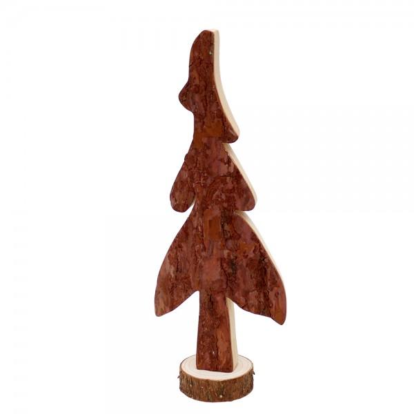 Holz Baum Rindenschnitzerei groß 10,5 x 5,5 x 28 cm
