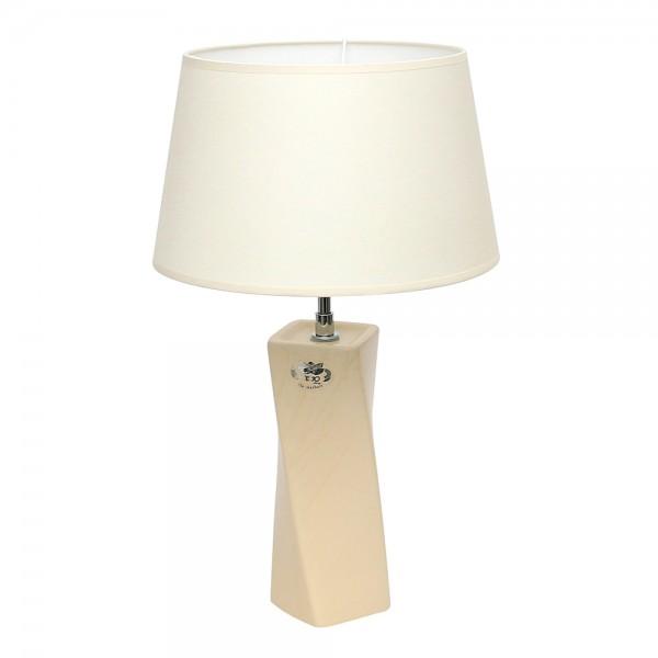 Keramik Tischlampe Samba (Leuchtmittel nicht enthalten), Champagner 25 x 25 x 42 cm 230 V Kabel, E27