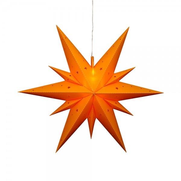 Kunststoff Falkensteiner Adventsstern Fensterstern 11 Spitzen zum Aufklappen, gelb 60 x 19 x 60 cm inkl. Adapter 4,5 V, LED, wetterfest/für außen geeignet