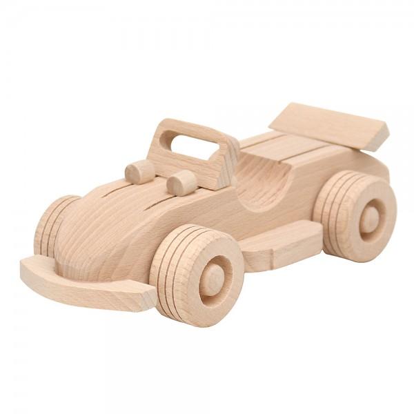Holz Cabrio zur Deko, natur 22 x 9,5 x 7,5 cm
