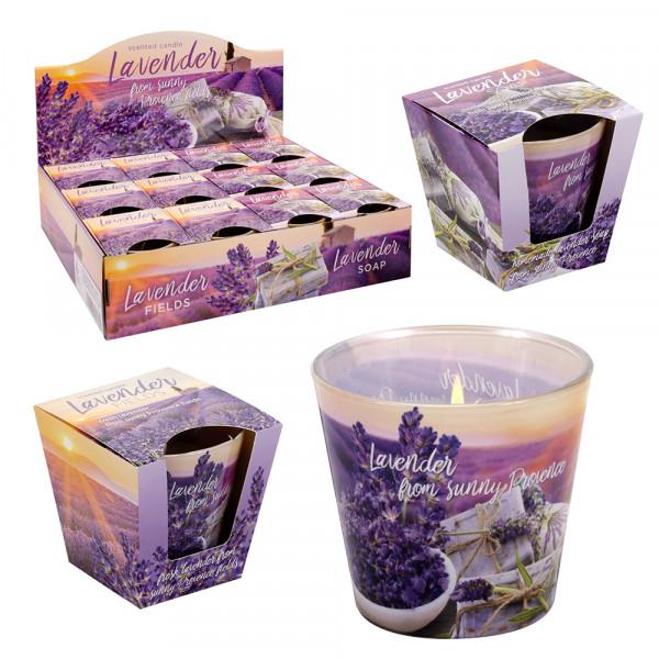Duftglas Lavendel Lavender Fields + Lavender Soap GLX-LFS/D-12 2-fach sort. 9 x 9 x 8 cm XL im Set
